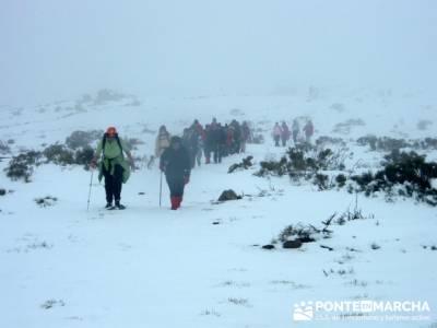 Ascenso al Mondalindo - nieve en madrid; tiendas trekking madrid